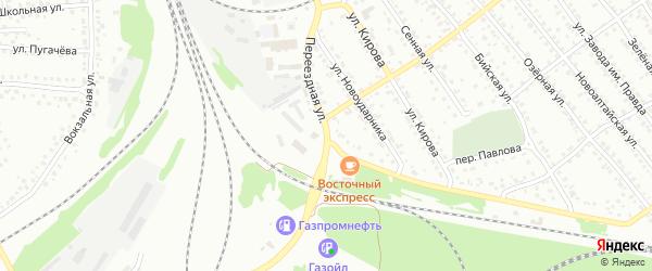 Переездная улица на карте Новоалтайска с номерами домов