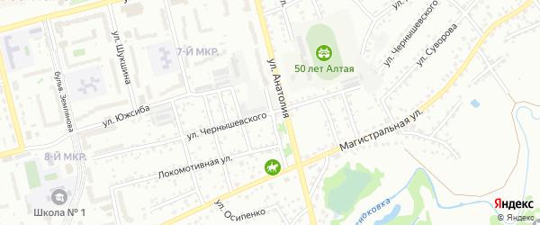 Улица Чернышевского на карте Новоалтайска с номерами домов