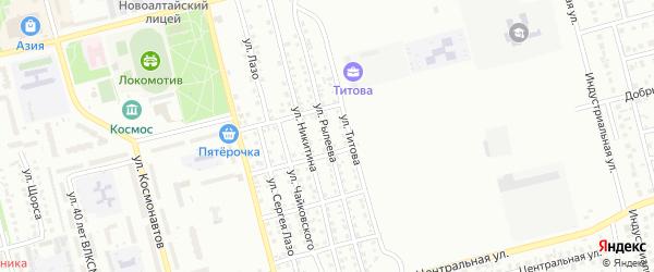 Улица Рылеева на карте Новоалтайска с номерами домов