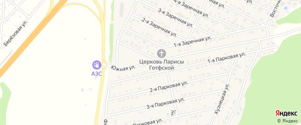 Южная улица на карте села Санниково с номерами домов