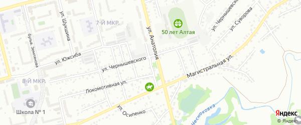 Новокузнецкий переулок на карте Новоалтайска с номерами домов