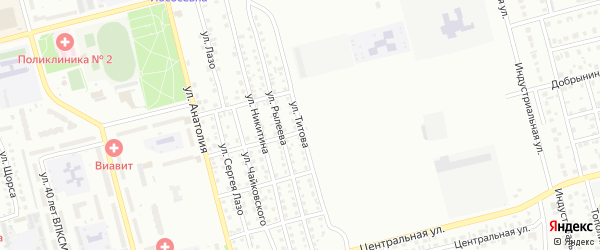 Улица Титова на карте Новоалтайска с номерами домов