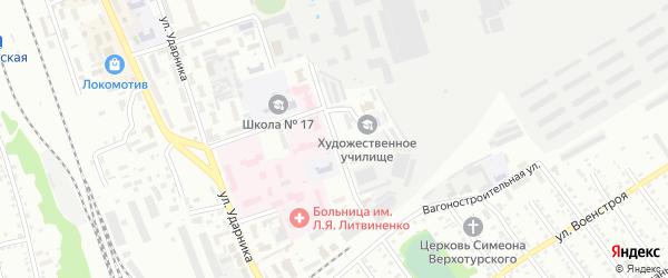 Молодежная улица на карте Новоалтайска с номерами домов