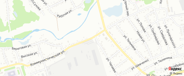 Коммунистическая улица на карте Новоалтайска с номерами домов