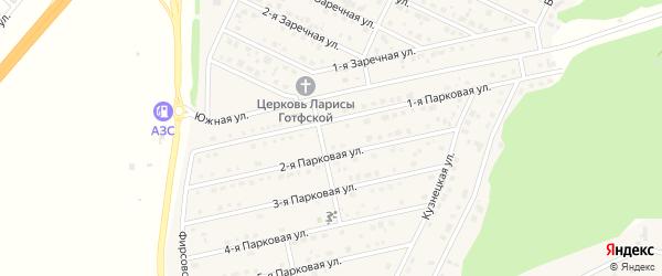 Парковая улица на карте села Фирсово с номерами домов