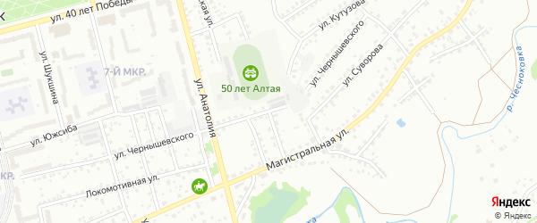 Каменский переулок на карте Новоалтайска с номерами домов