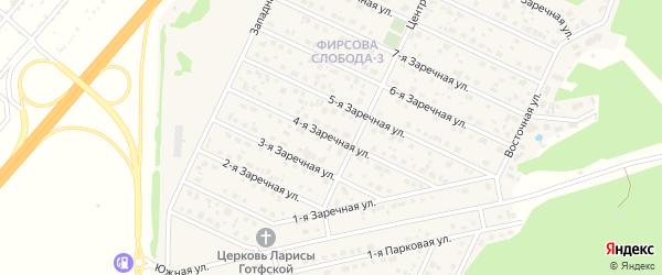 Заречная 4-я улица на карте села Санниково с номерами домов
