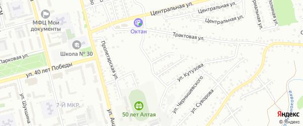 Улица Пирогова на карте Новоалтайска с номерами домов