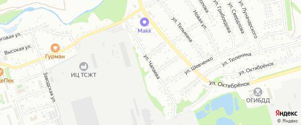 Улица Чапаева на карте Новоалтайска с номерами домов