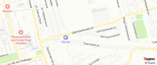 Центральная улица на карте Новоалтайска с номерами домов