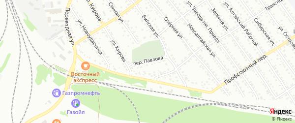 Переулок Павлова на карте Новоалтайска с номерами домов