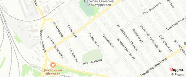 Бийская улица на карте Новоалтайска с номерами домов