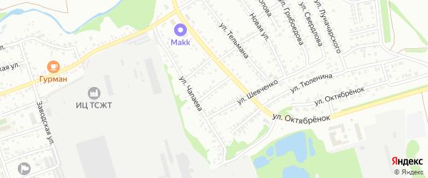 Улица Л.Толстого на карте Новоалтайска с номерами домов