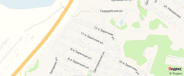 11-я улица на карте садового некоммерческого товарищества Сосняка с номерами домов