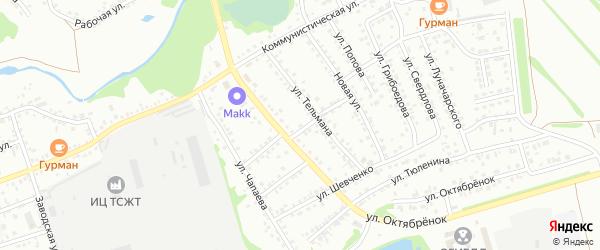 18-я улица на карте садового некоммерческого товарищества N 12 с номерами домов