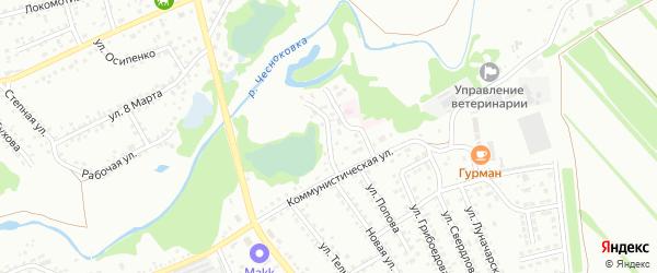 Подгорный переулок на карте Новоалтайска с номерами домов