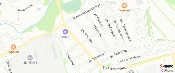 Улица Тельмана на карте Новоалтайска с номерами домов