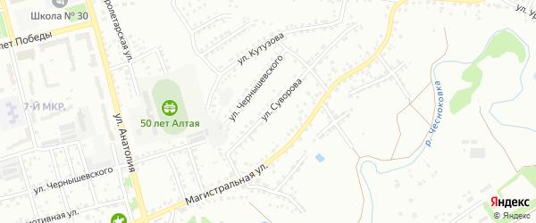 Улица Суворова на карте Новоалтайска с номерами домов