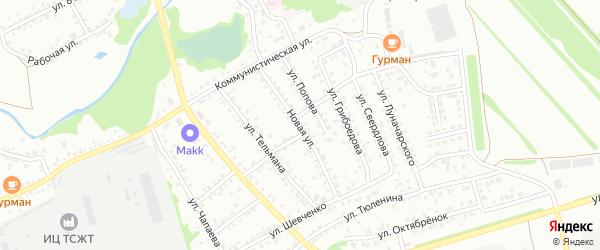 Новая улица на карте Новоалтайска с номерами домов
