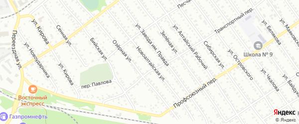 Новоалтайская улица на карте Новоалтайска с номерами домов