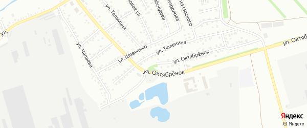 Улица Октябренок на карте Новоалтайска с номерами домов
