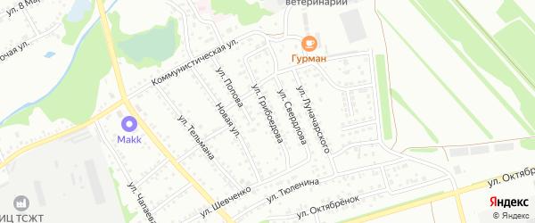 Улица Грибоедова на карте Новоалтайска с номерами домов