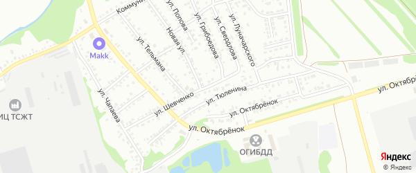 Улица Шевченко на карте Новоалтайска с номерами домов