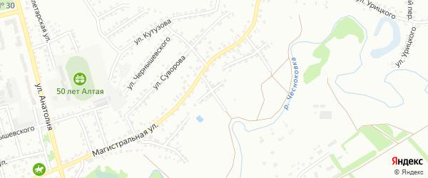 Улица Зеленый Клин на карте Новоалтайска с номерами домов
