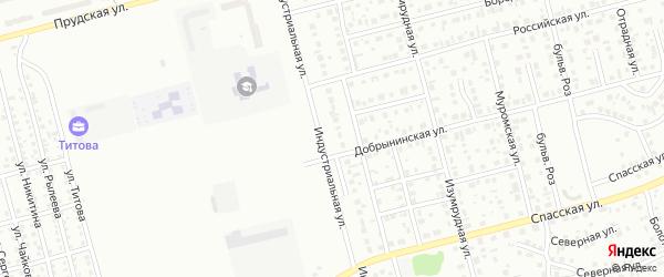 Индустриальная улица на карте Новоалтайска с номерами домов
