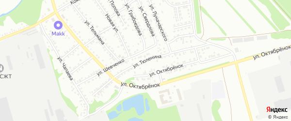 Улица Тюленина на карте Новоалтайска с номерами домов