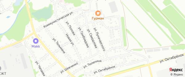 Улица Свердлова на карте Новоалтайска с номерами домов