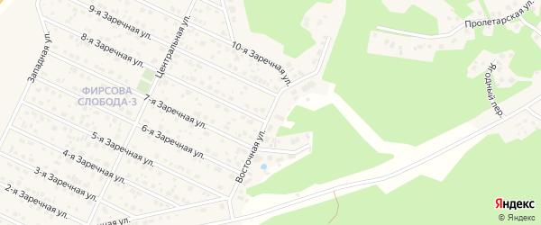 Восточная улица на карте села Санниково с номерами домов