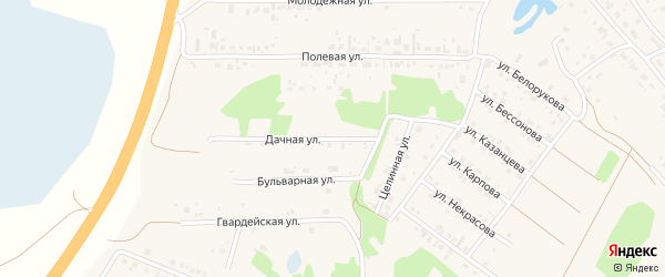 Дачная улица на карте села Санниково с номерами домов