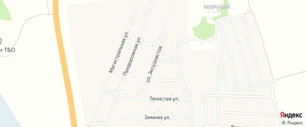 Улица Энтузиастов на карте села Санниково с номерами домов