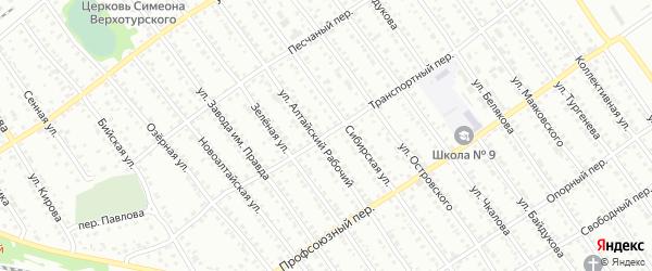 Транспортный переулок на карте Новоалтайска с номерами домов