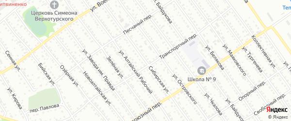 Сибирская улица на карте Новоалтайска с номерами домов