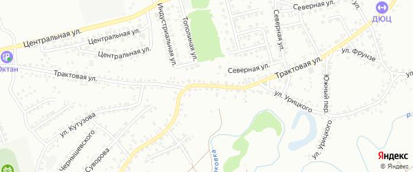 Трактовая улица на карте Новоалтайска с номерами домов