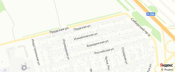 Измайловская улица на карте Новоалтайска с номерами домов