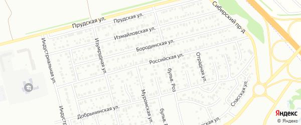 Российская улица на карте Новоалтайска с номерами домов