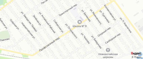 Профсоюзный переулок на карте Новоалтайска с номерами домов