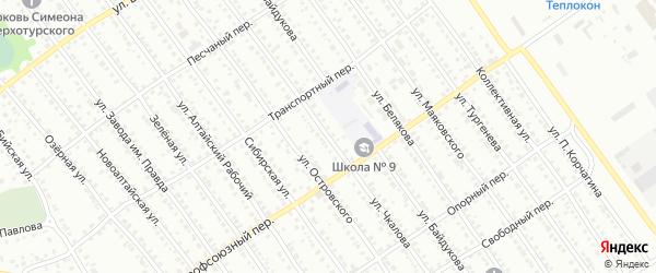 Улица Чкалова на карте Новоалтайска с номерами домов