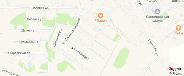 Улица Отрадное мкр Афанасия Казанцева на карте села Санниково с номерами домов