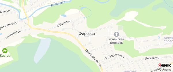 Микрорайон Фирсово-Заречье на карте села Фирсово с номерами домов