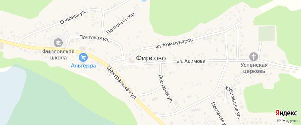 Микрорайон Березовый мыс на карте села Фирсово с номерами домов