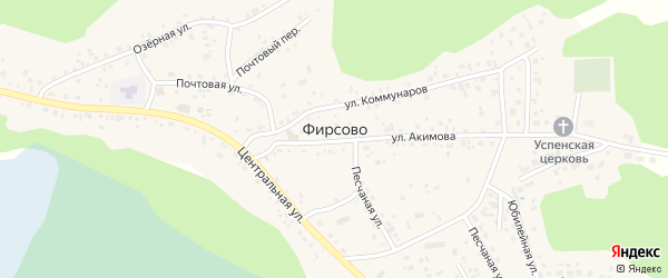 Фирсово-Заречье мкр Мирная улица на карте села Фирсово с номерами домов