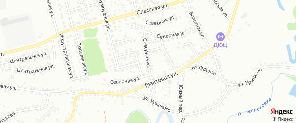 Северная улица на карте Новоалтайска с номерами домов