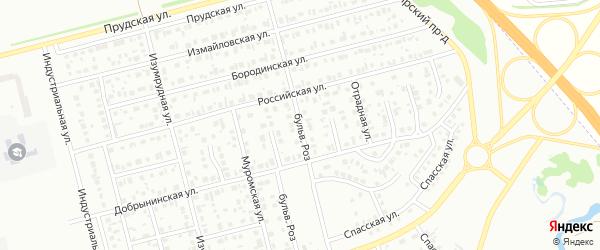 Улица Бульвар Роз на карте Новоалтайска с номерами домов