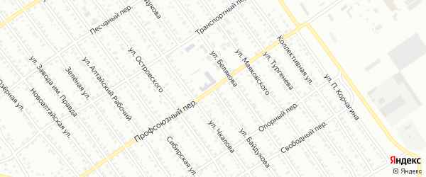 Улица Байдукова на карте Новоалтайска с номерами домов