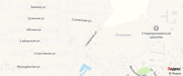 Северная улица на карте села Санниково с номерами домов