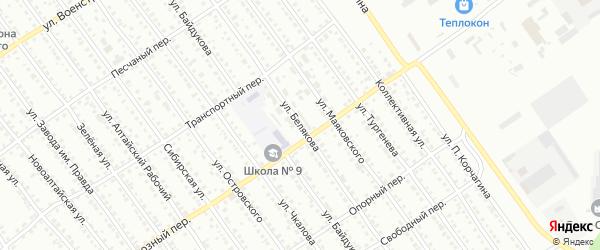 Улица Белякова на карте Новоалтайска с номерами домов